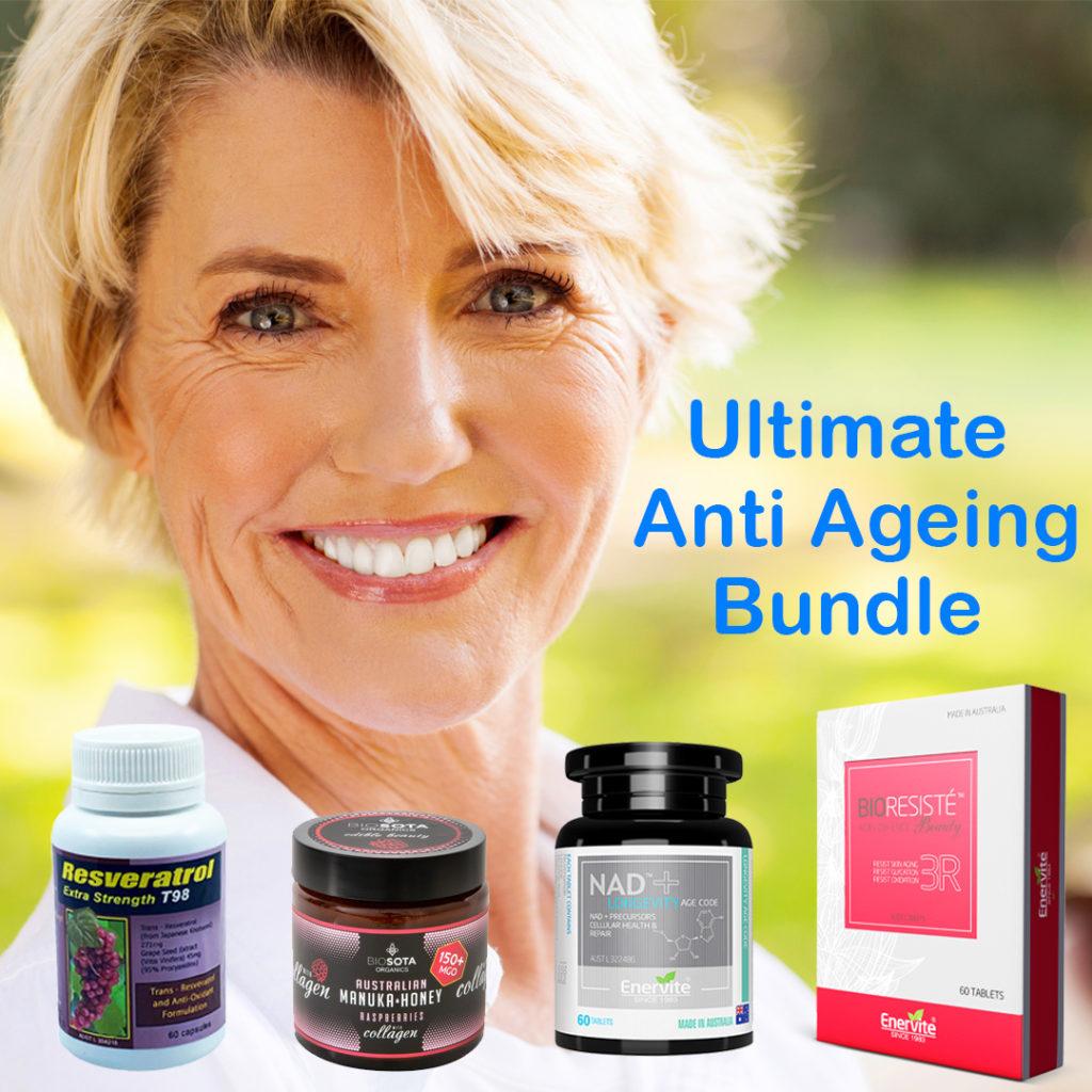 anti ageing bundle collagen resveratrol nad antioxidants