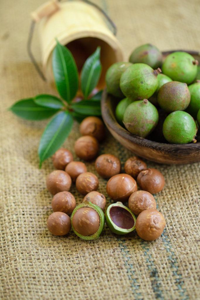 Macadamia nuts are native to Australia.