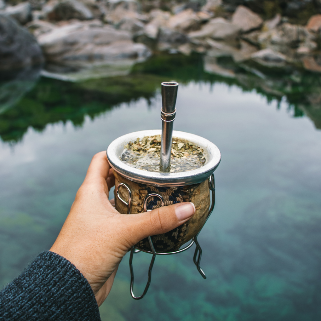 """Yerba Mate or known as """"mate"""", is a plant used to make medicine. It is also used to make tea-like beverages with coffee-like properties, which are very popular in South America. It contains caffeine and other chemicals which stimulate the brain, heart, muscles and other parts of the body and is very similar to coffee."""